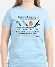 Guess Which Weapon (black print) T-Shirt