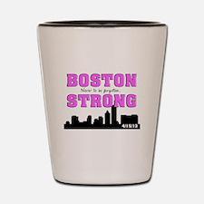 boston strong 55 pink Shot Glass