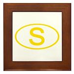 Sweden - S Oval Framed Tile
