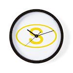 Sweden - S Oval Wall Clock