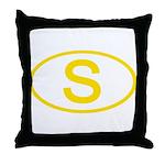Sweden - S Oval Throw Pillow