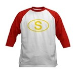 Sweden - S Oval Kids Baseball Jersey