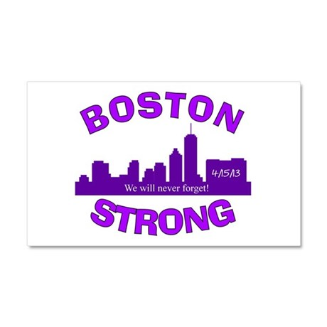 BOSTON STRONG CURVED 5 Car Magnet 20 x 12