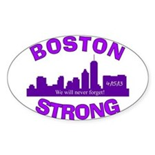 BOSTON STRONG CURVED 5 Decal