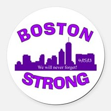 BOSTON STRONG CURVED 5 Round Car Magnet
