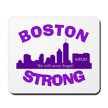 BOSTON STRONG CURVED 5 Mousepad