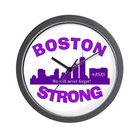 BOSTON STRONG CURVED 5 Wall Clock