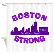 BOSTON STRONG CURVED 5 Shower Curtain