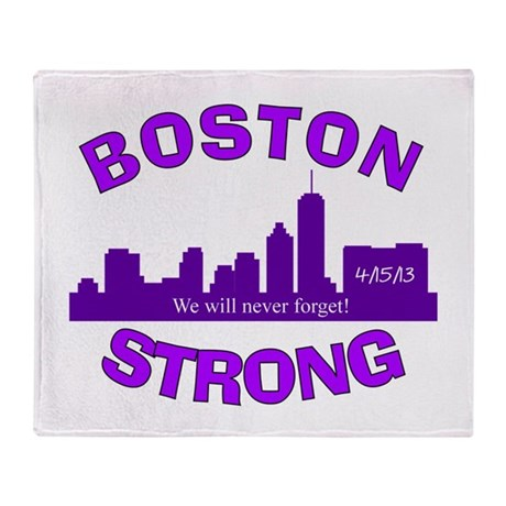 BOSTON STRONG CURVED 5 Throw Blanket