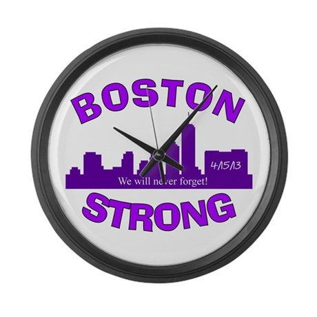 BOSTON STRONG CURVED 5 Large Wall Clock