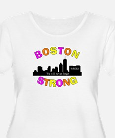 BOSTON STRONG CURVED 3 Plus Size T-Shirt