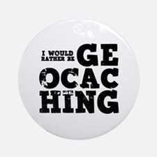 'Geocaching' Ornament (Round)