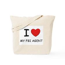 I love fbi agents Tote Bag