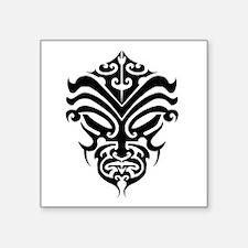 """maori warrior face Square Sticker 3"""" x 3"""""""