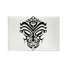 maori warrior face Rectangle Magnet