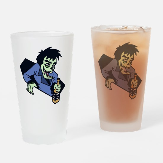 Drunk zombi Drinking Glass