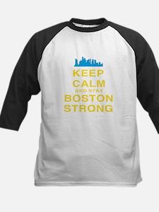 Keep Calm and Boston Strong Kids Baseball Jersey