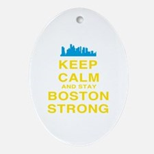 Keep Calm and Boston Strong Ornament (Oval)