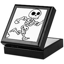 skeleton run Keepsake Box