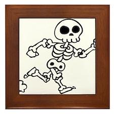 skeleton run Framed Tile