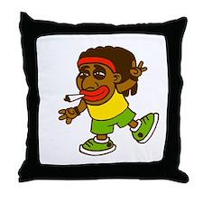 Rasta smoke Throw Pillow