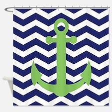Chevron Anchor Shower Curtain