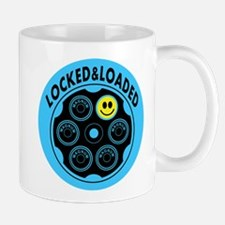 Locked and Loaded Smiley Bullets Mug