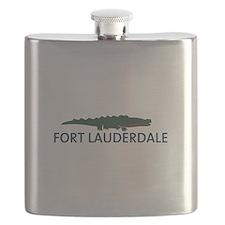 Fort Lauderdale - Alligator Design. Flask