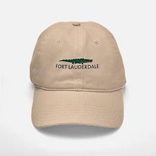 Fort Lauderdale - Alligator Design. Baseball Baseball Cap