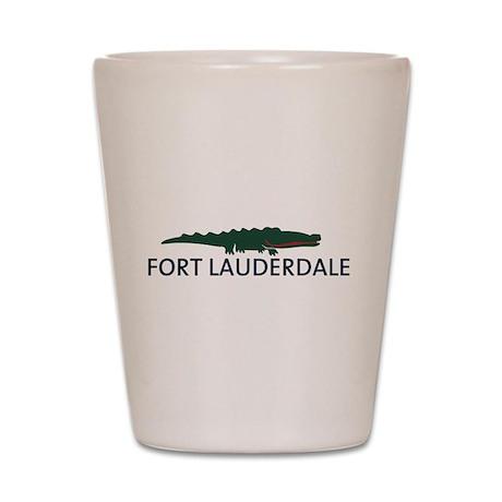 Fort Lauderdale - Alligator Design. Shot Glass