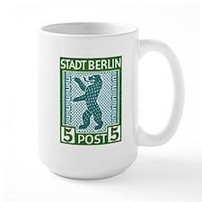 Antique 1945 Germany Beling Bear Postage Stamp Mug