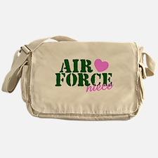 Air Force Niece Green Pink Heart Messenger Bag