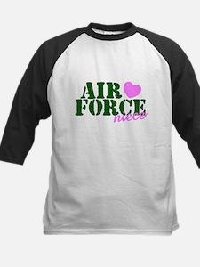 Air Force Niece Green Pink Heart Baseball Jersey