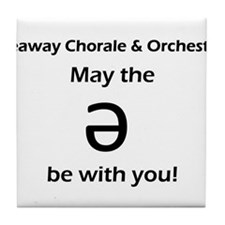 May the schwa be with you! Tile Coaster