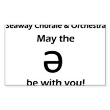 May the schwa be with you! Bumper Stickers