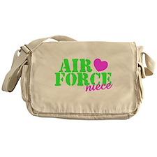 Air Force Niece Lime Green Pink Heart Messenger Ba