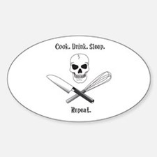 Cook. Drink. Sleep. Decal