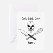 Cook. Drink. Sleep. Greeting Card