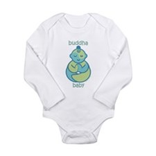 Happy Buddha Baby : Blue & Green Body Suit