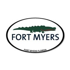 Fort Myers - Alligator Design. Wall Decal