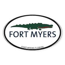 Fort Myers - Alligator Design. Decal