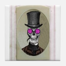 Victorian Portrait: Skull in a Tophat Tile Coaster