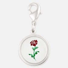 Autism Heart Rose Charms