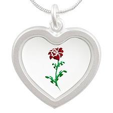 Autism Heart Rose Necklaces