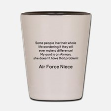 AF Niece No Prob for Aunt Shot Glass