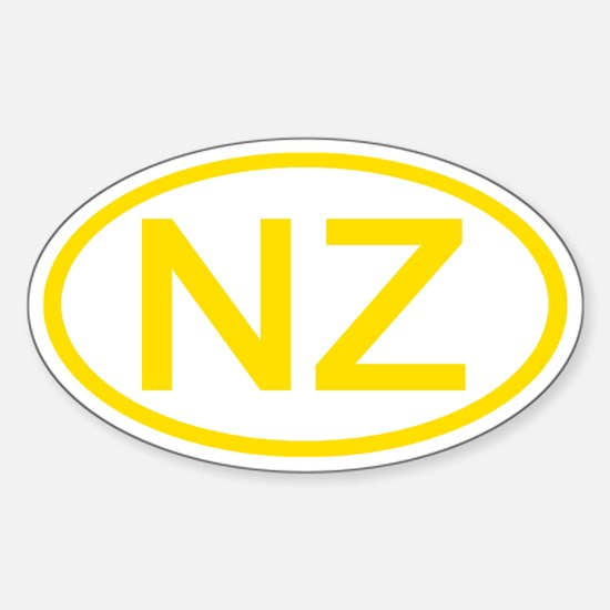 New Zealand - NZ Oval Oval Decal