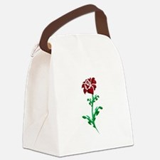 Autism Heart Rose Canvas Lunch Bag