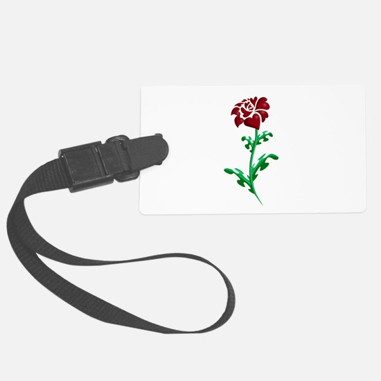 Autism Heart Rose Luggage Tag