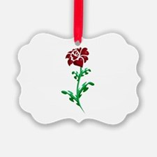Autism Heart Rose Ornament