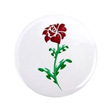 "Autism Heart Rose 3.5"" Button"